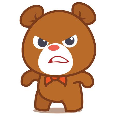 Angry bear character vector kunstcollectie voorraad