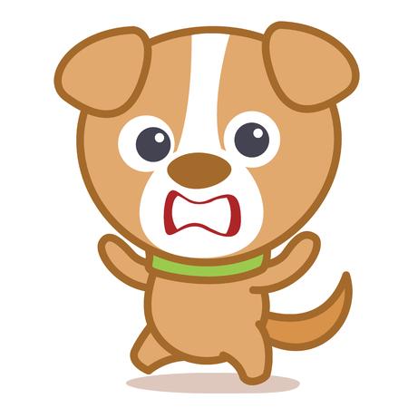 Vector illustration of cute dog