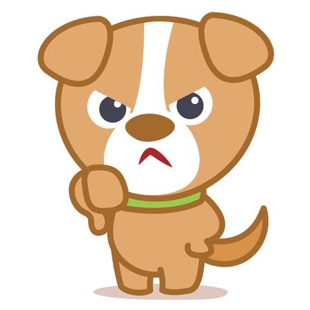 Angry dog cartoon vector illustration