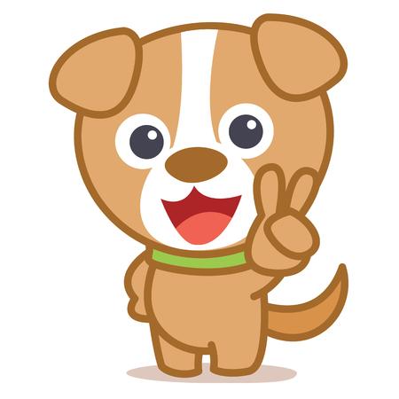 Character dog animal cartoon style