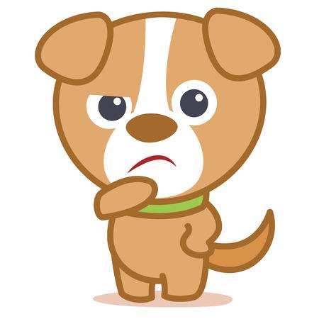 Sad dog character cartoon