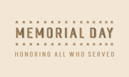 Happy memorial day style background vector illustration Illustration