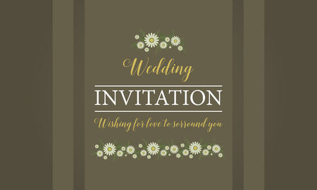 beuty: Happy wedding invitation card style vector illustration Illustration