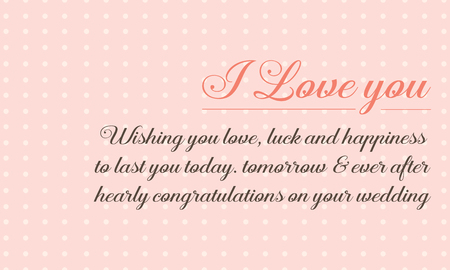 beuty: Cute style greeting card for wedding