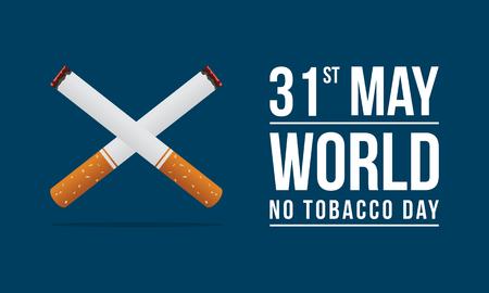 Wereld geen tabak dag achtergrond Stock Illustratie