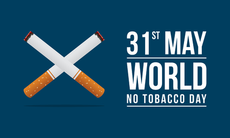 World no tobacco day background Çizim