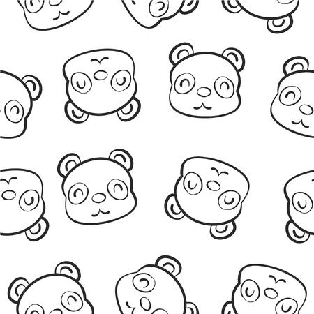 cute bear: Cute animal hand draw pattern
