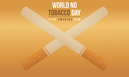 No tobacco day style background collection Illustration