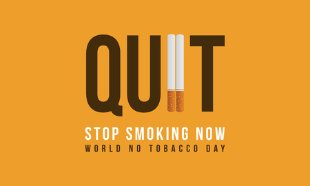 Banner stop smoking no tobacco day collection vector illustration
