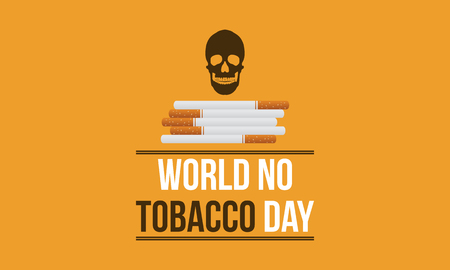 World no tobacco day background vector flat collection stock