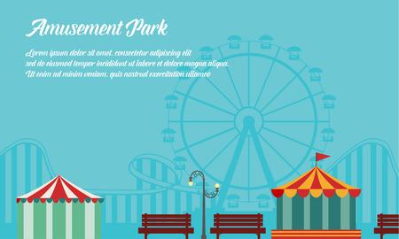 Background style amusement park collection