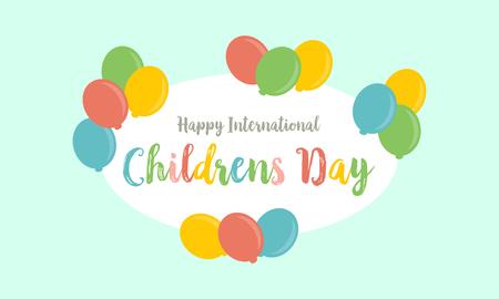 Estilo de tarjeta para el día de los niños Foto de archivo - 78615723