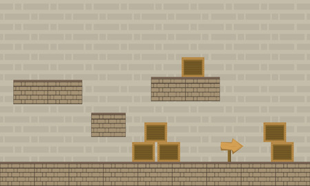 Collection wall game background style vector illustration Ilustrace