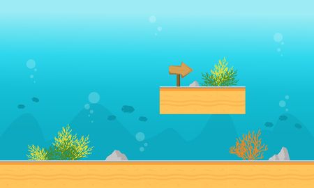scrolling: Background game on the water style vector illustration