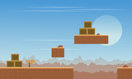Background game desert scenery