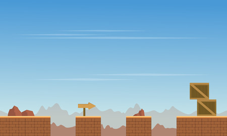 Collection style game background theme Ilustrace