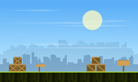 scrolling: Collection stock city background for game
