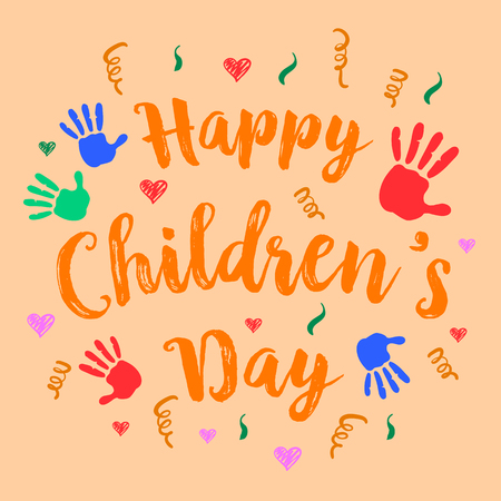 Happy childrens day celebration style