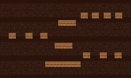 Brown wall style background game collection