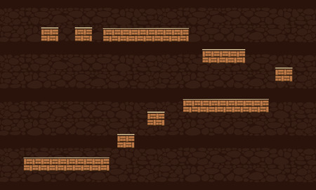 Collection brown background game style Ilustrace