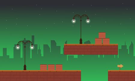 Collection stock street style game background Ilustração Vetorial