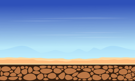 scrolling: Game background mountain landscape style