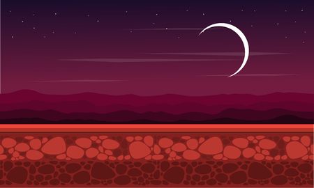 At night scenery game background style