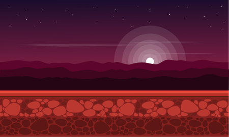 Collection at night scenery game background