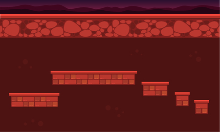 Wall style game background collection