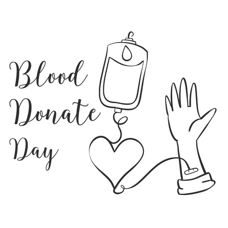 Doodle blood donor day style collection