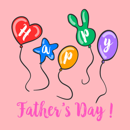Happy father day colorful background