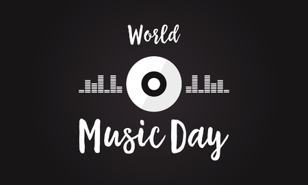 Celebration of world music day background.