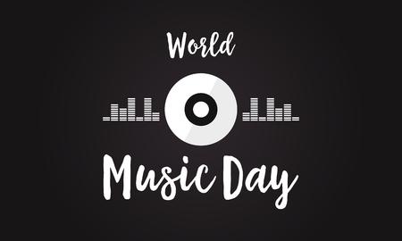 Celebration of world music day background.