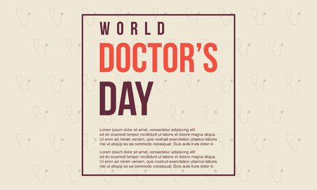 World doctor day style card.