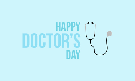 Happy doctor day design card style
