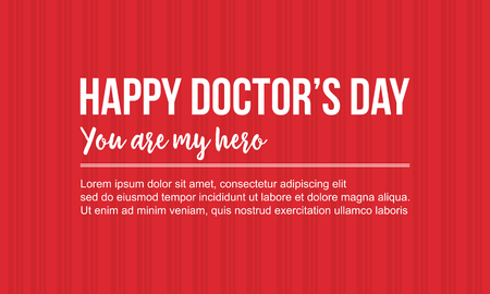 Happy doctor day celebration card style vector art.