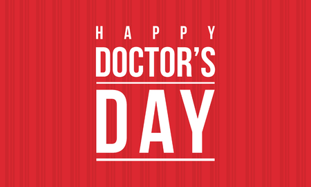 Collection stock of doctor day celebration card