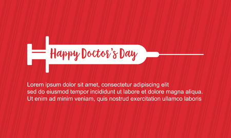 Collection stock doctor day card style vector art Illustration