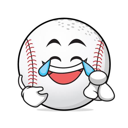 pastime: Joy baseball cartoon style character vector illustration Illustration