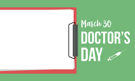 Collection stock card doctor day style vector art