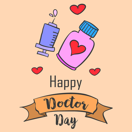 earth day: Card style for doctor day