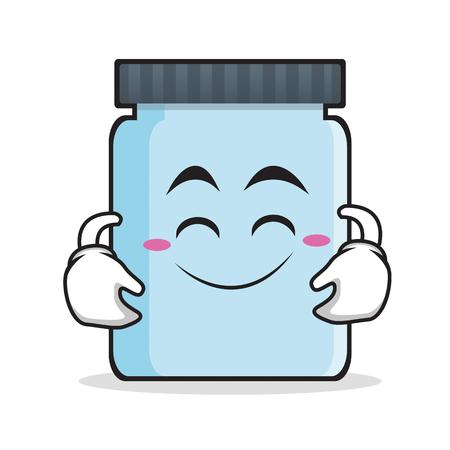 jelly sandwich: Cute smile jar character cartoon style