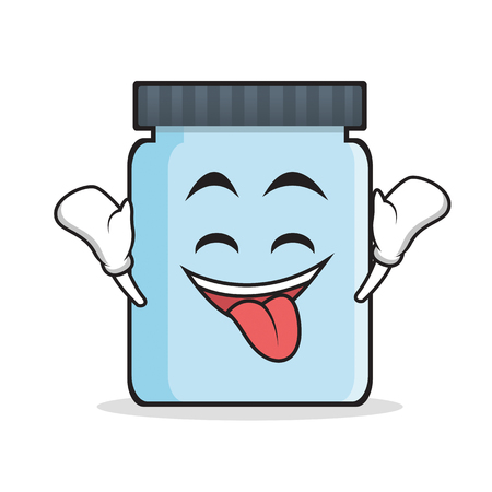 Ecstatic jar character cartoon style