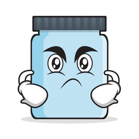 jelly sandwich: Angry jar character cartoon style