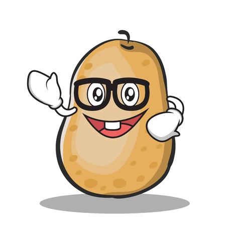 Geek aardappel karakter cartoon stijl
