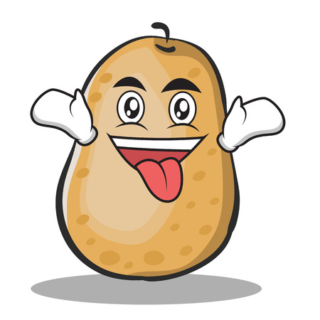 Crazy potato character cartoon style