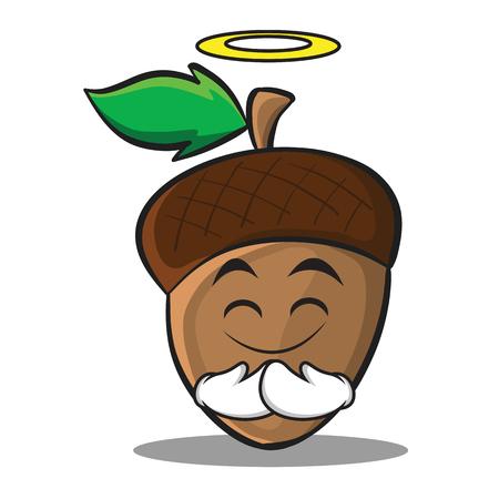 Innocent acorn cartoon character style Illustration