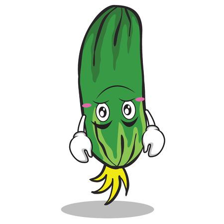 Upside down cucumber character cartoon collection vector art