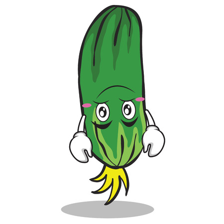 Upside down cucumber character cartoon collection vector art Reklamní fotografie - 81546572