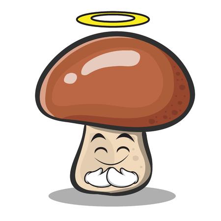 Innocent mushroom character cartoon vector illustration collection
